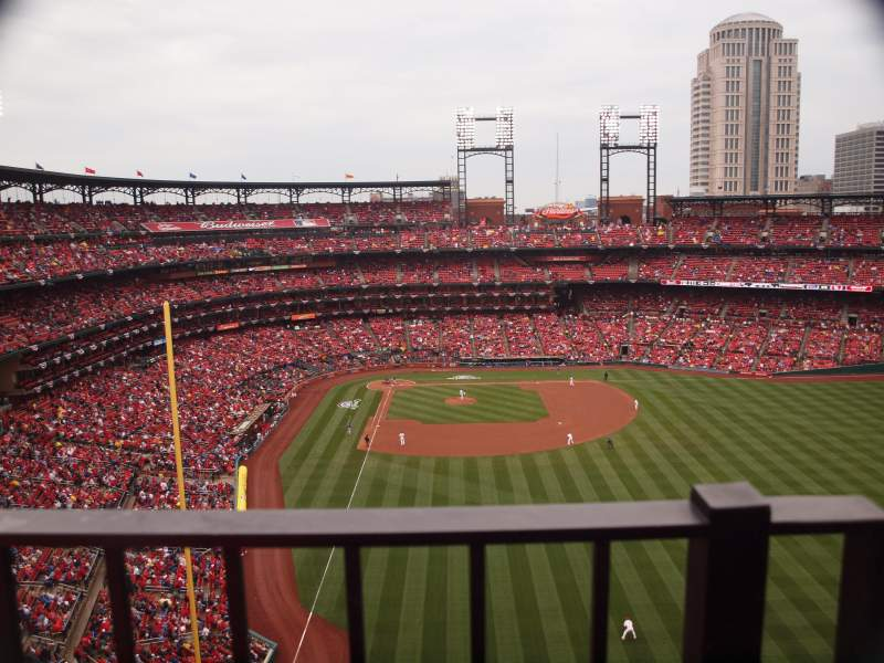 Seating view for Busch Stadium Section 428 Row 1 Seat 18