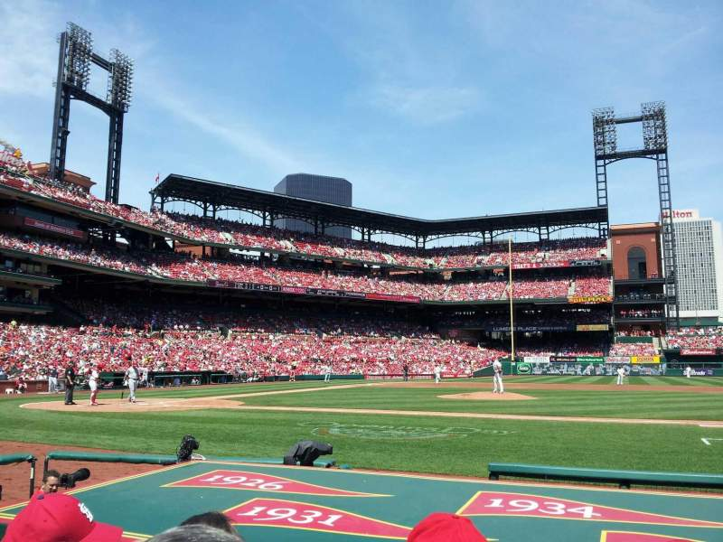 Seating view for Busch Stadium Section 144 Row F Seat 6