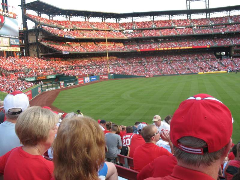 Seating view for Busch Stadium Section 593 Row 14 Seat 15