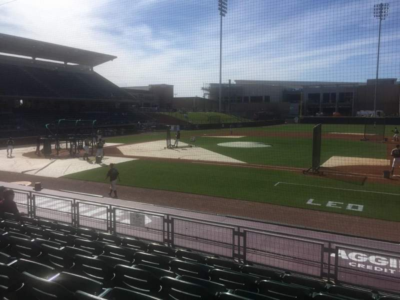 Seating view for Olsen Field Section 102 Row 6  Seat 12