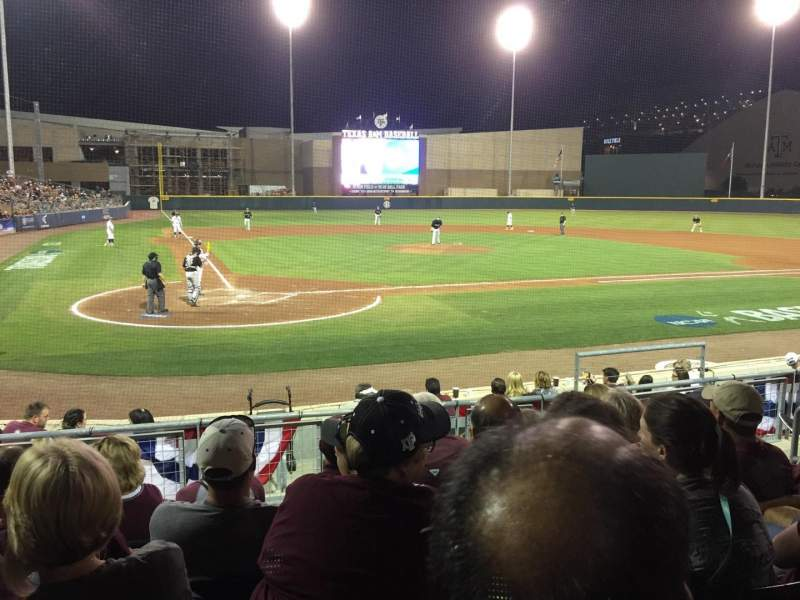 Seating view for Olsen Field Section 105 Row 5 Seat 8