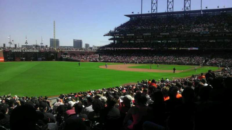 Seating view for Oracle Park Section 133 Row 31 Seat 3