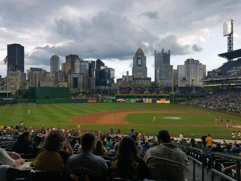 Seating view for PNC Park Section 123 Row Y Seat 1
