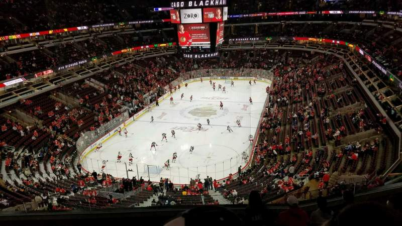 Seating view for United Center Section 324 Row 7 Seat 12