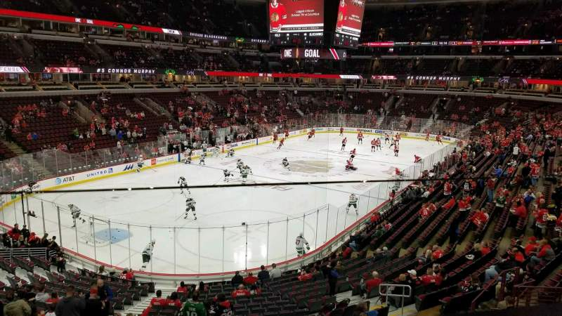 United Center, section: 223, row: 1, seat: 3