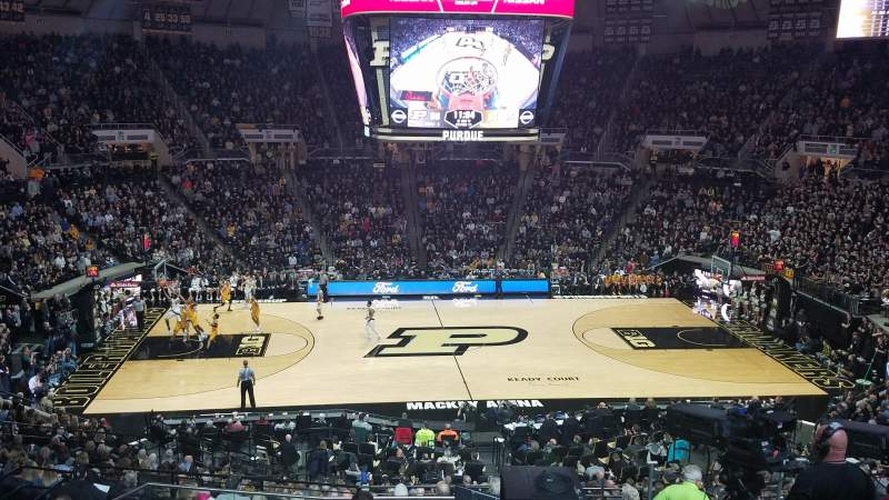 Seating view for Mackey Arena Section 110 Row 12 Seat 26