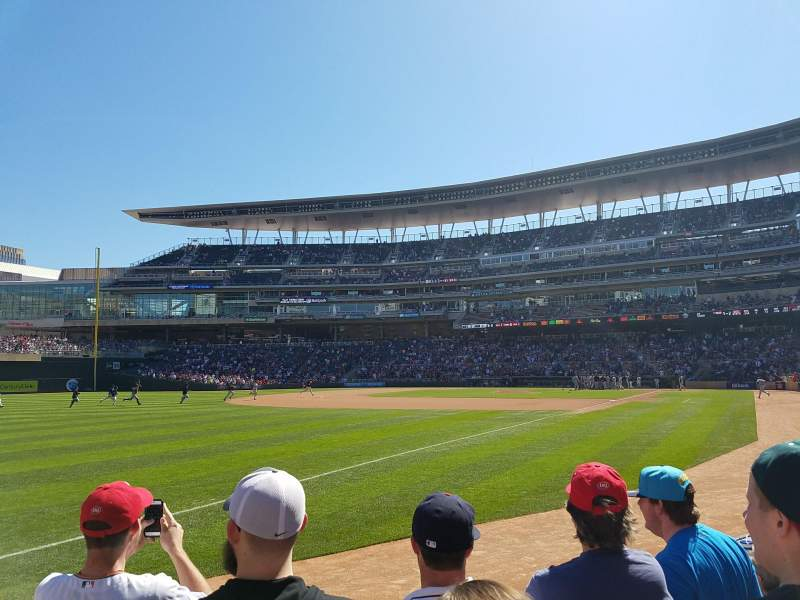 Seating view for Target Field Section 125 Row 4 Seat 18