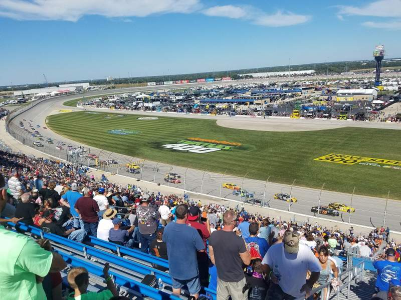 Seating view for Chicagoland Speedway Section 110 Row 52 Seat 22