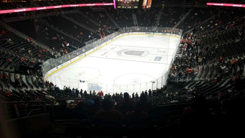 Seating view for T-Mobile Arena Section 103 Row H Seat 5
