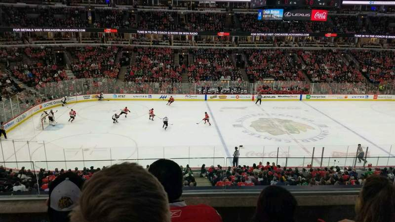 Seating view for United Center Section 219 Row 3 Seat 3