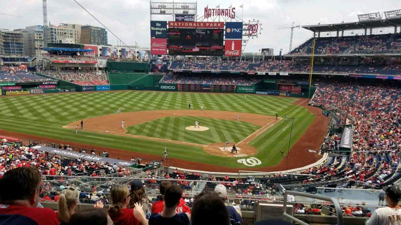 Seating view for Nationals Park Section 211 Row F Seat 1