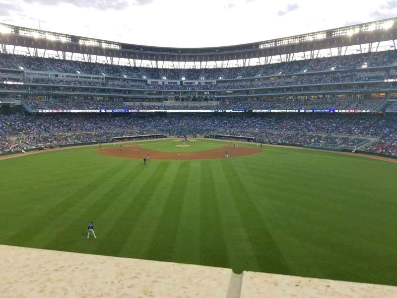 Seating view for Target Field Section Catch Row 1 Seat 13