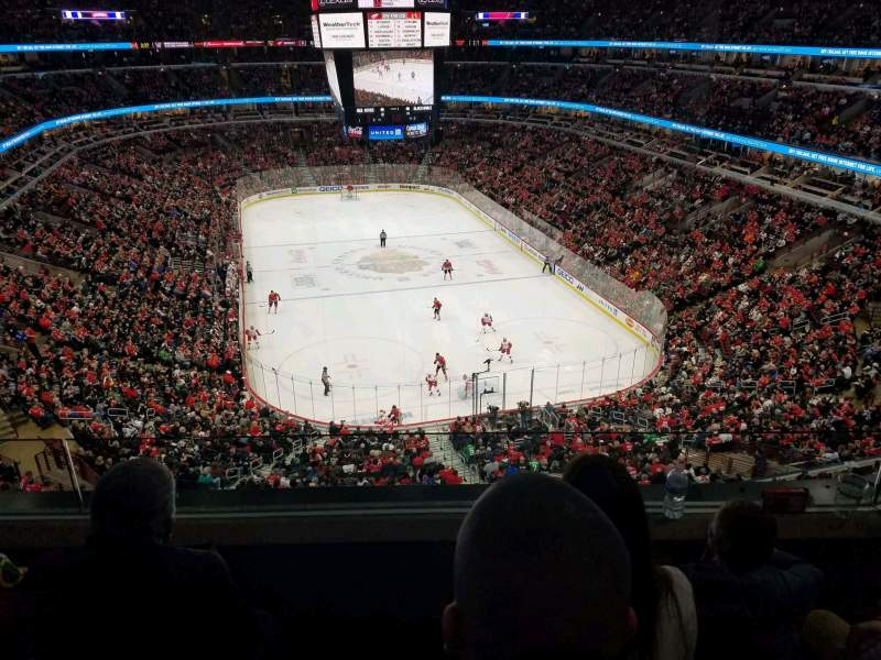 Seating view for United Center Section 327 Row 3 Seat 10