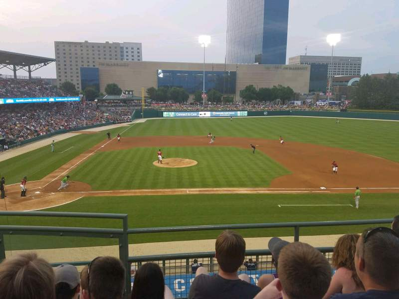 Seating view for Victory Field Section 214 Row D Seat 2