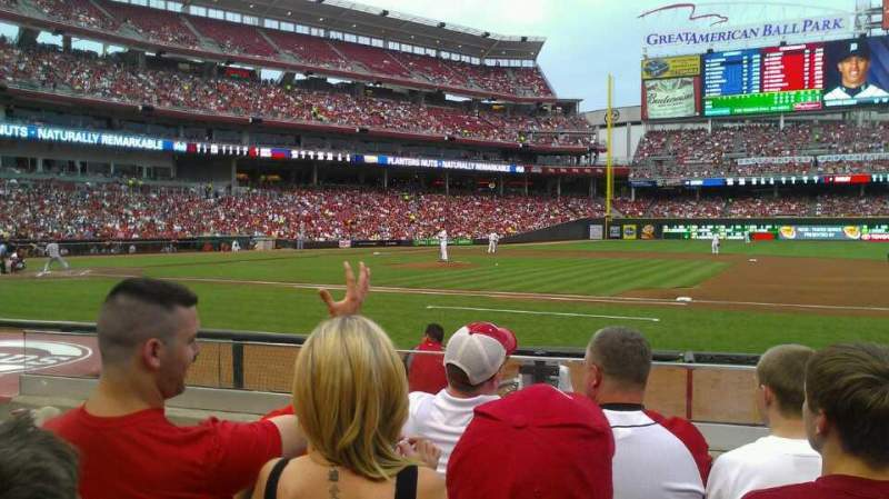 Seating view for Great American Ball Park Section 131 Row I Seat 14