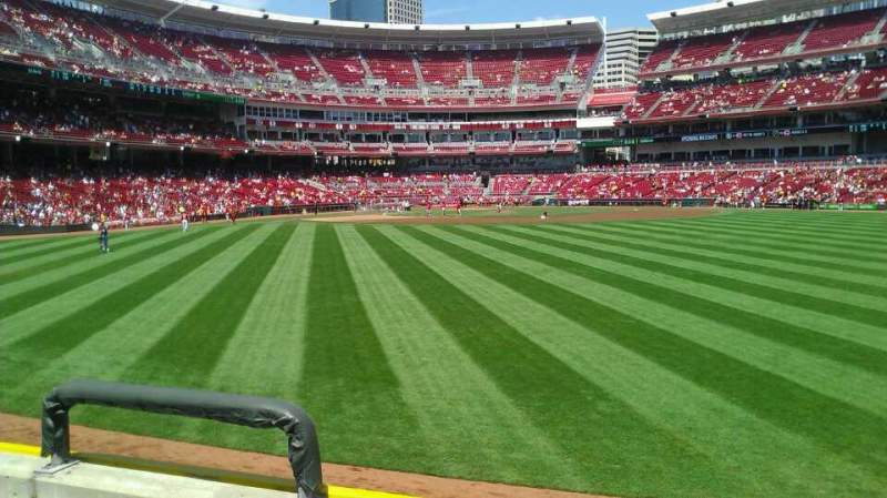 Seating view for Great American Ball Park Section 145 Row C Seat 19