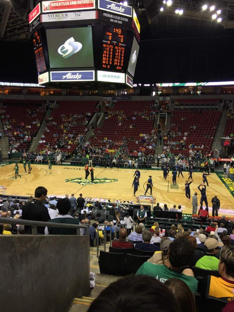 Seating view for KeyArena Section 115 Row 18 Seat 1