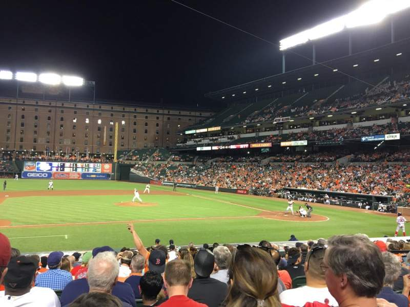 Seating view for Oriole Park at Camden Yards Section 52 Row 14 Seat 8