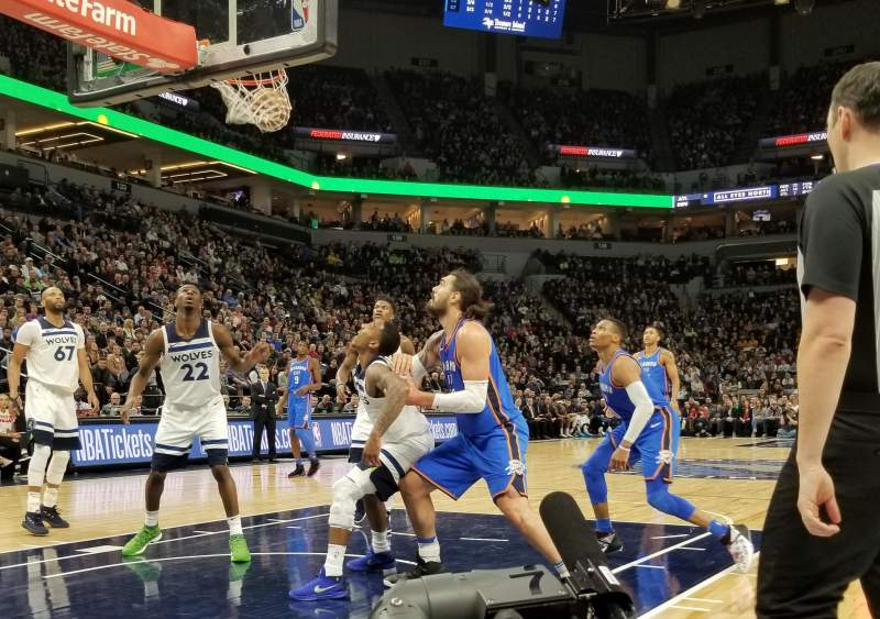 Target Center, section: 6, row: A, seat: 10