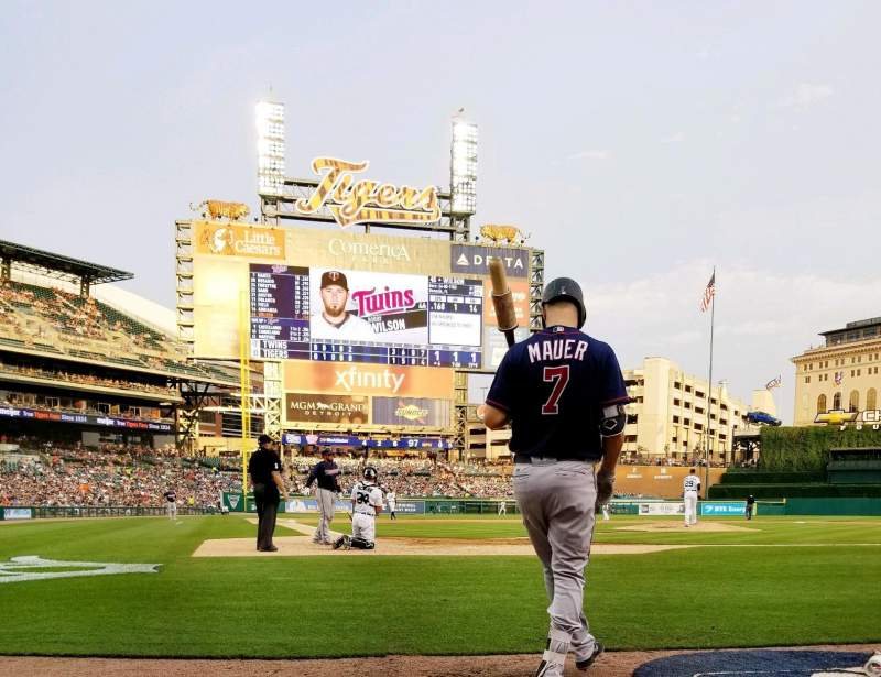Comerica Park, section: 125, row: 1, seat: 1