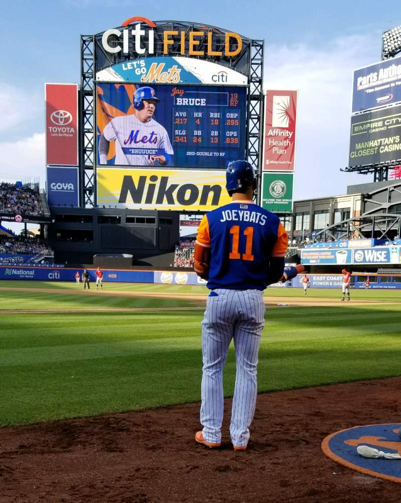 Seating view for Citi Field Section 12 Row 1 Seat 1
