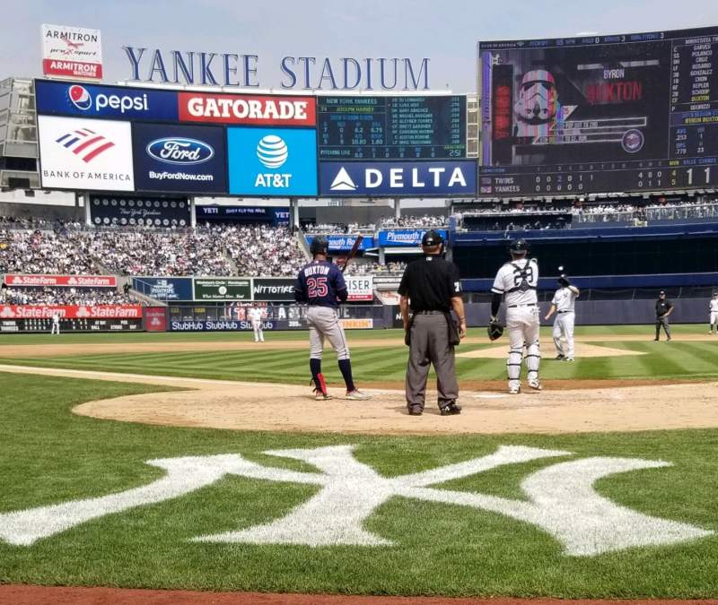 Seating view for Yankee Stadium Section 019 Row 1 Seat 3,4