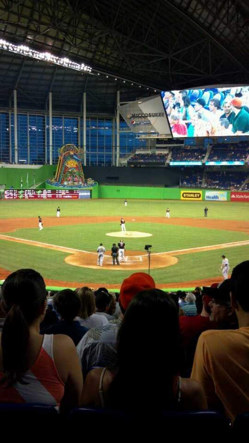 Seating view for Marlins Park Section 14 Row 11 Seat 11