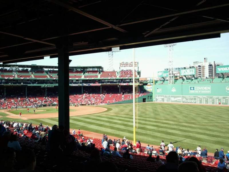 Seating view for Fenway Park Section Grandstand 6 Row 11 Seat 15