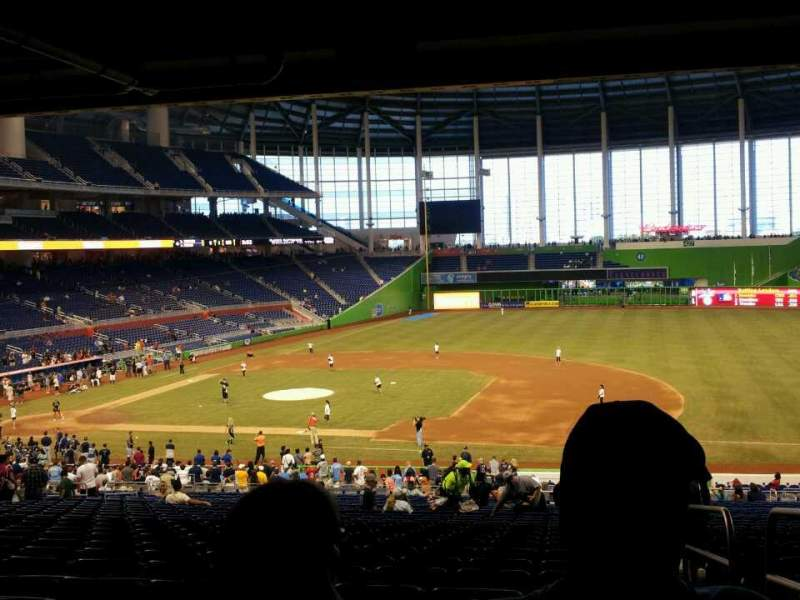 Seating view for Marlins Park Section 8 Row 29 Seat 1