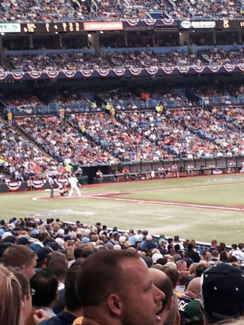 Seating view for Tropicana Field Section 132 Row x Seat 3