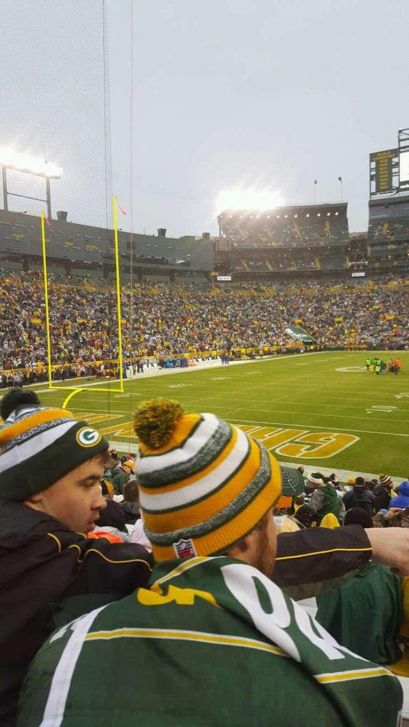 Seating view for Lambeau Field Section 104 Row 20 Seat 3,4,5,6