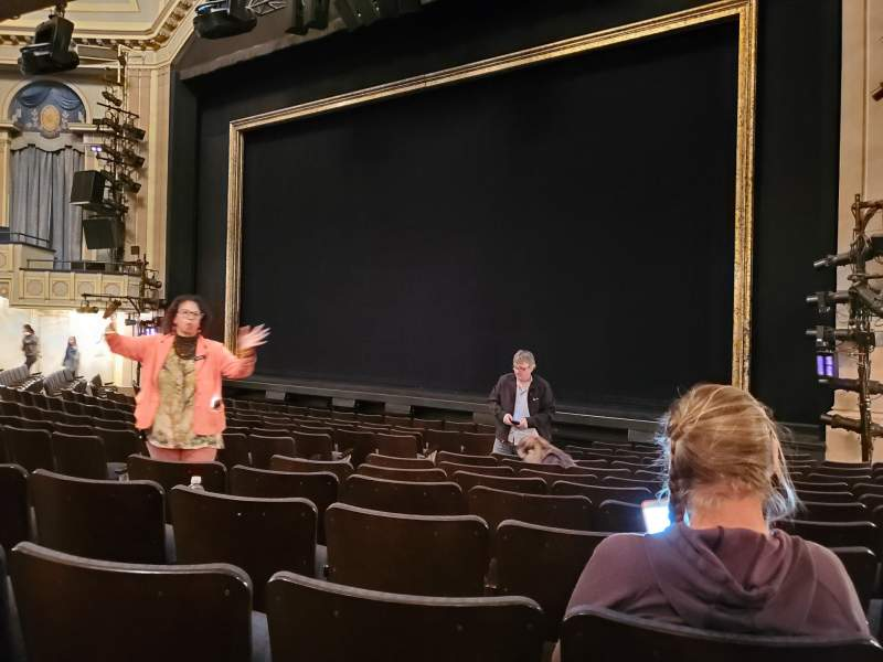 Seating view for Ambassador Theatre Section Orchestra R Row M Seat 10-12