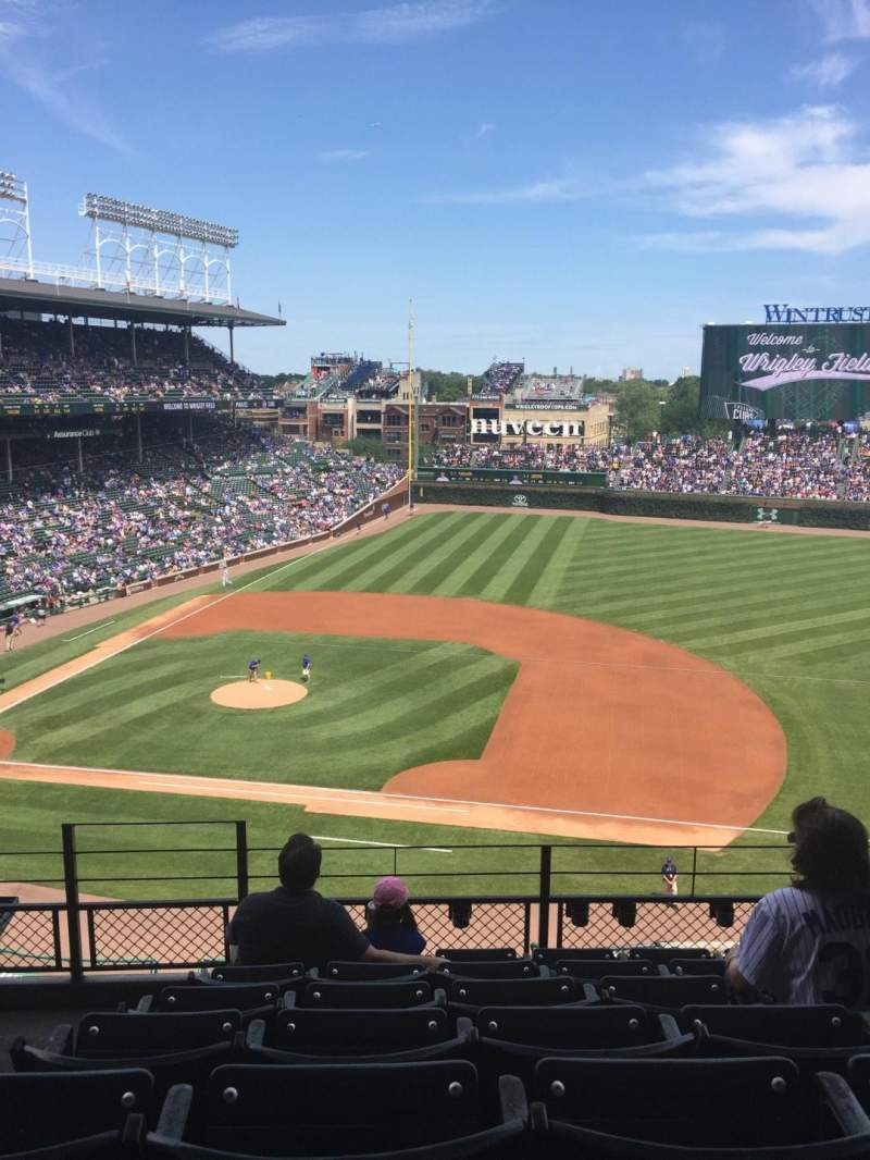 Seating view for Wrigley Field Section 430 Row 7 Seat 1