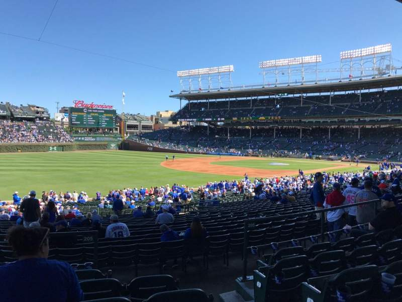 Seating view for Wrigley Field Section 205 Row 6 Seat 102