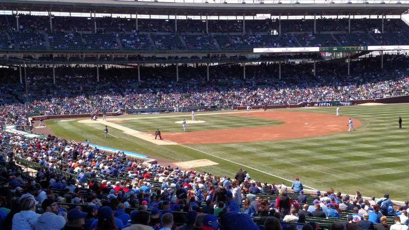 Seating view for Wrigley Field Section 240 Row 14 Seat 101