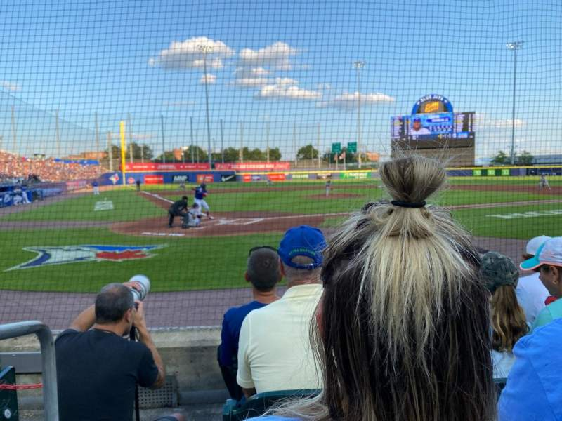 Seating view for Sahlen Field Section 106 Row D Seat 12