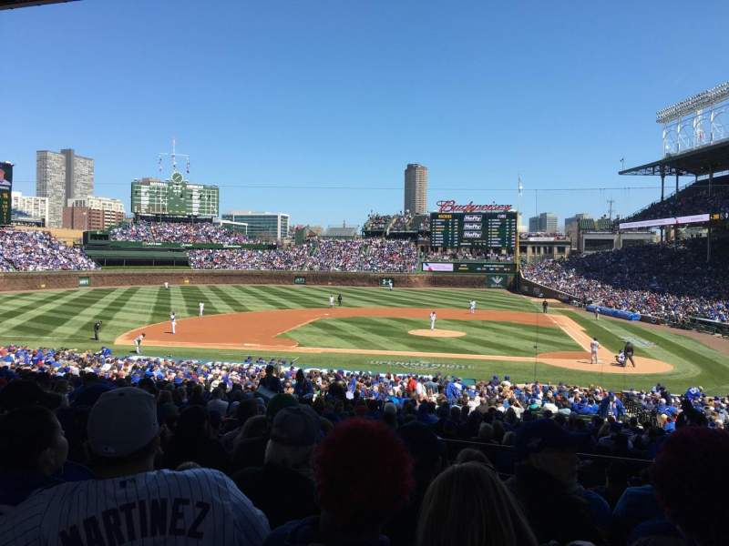Seating view for Wrigley field Section 215 Row 8 Seat 12