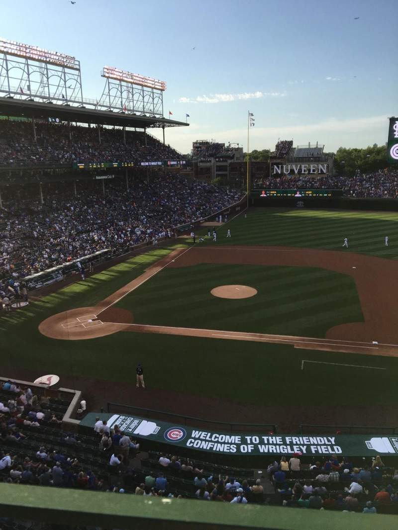 Seating view for Wrigley Field Section 429 Row 1 Seat 6