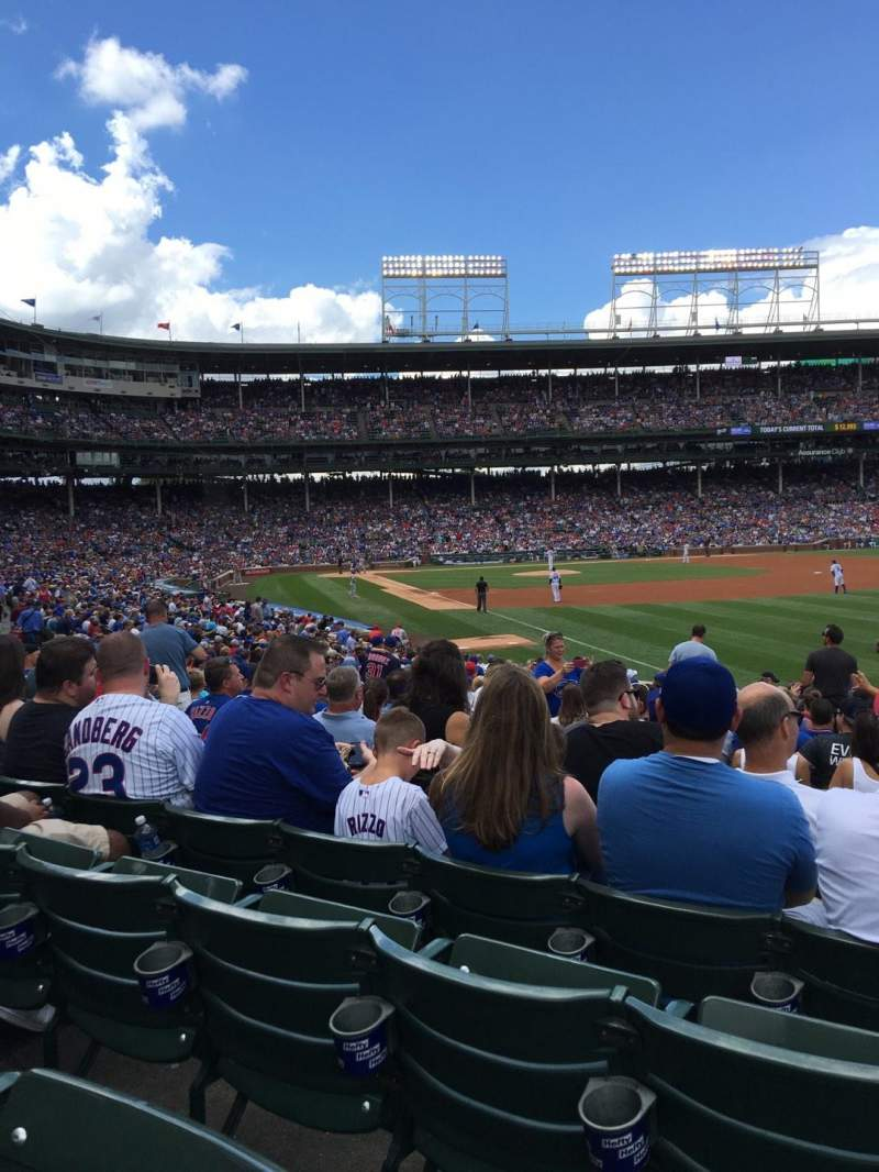 Seating view for Wrigley Field Section 140 Row 14 Seat 108