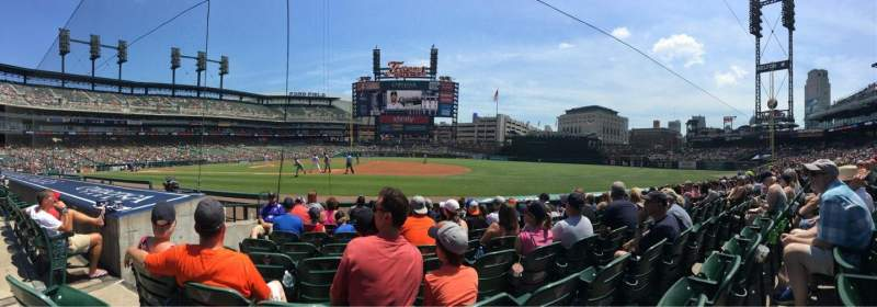 Seating view for Comerica Park Section 119 Row 9 Seat 13