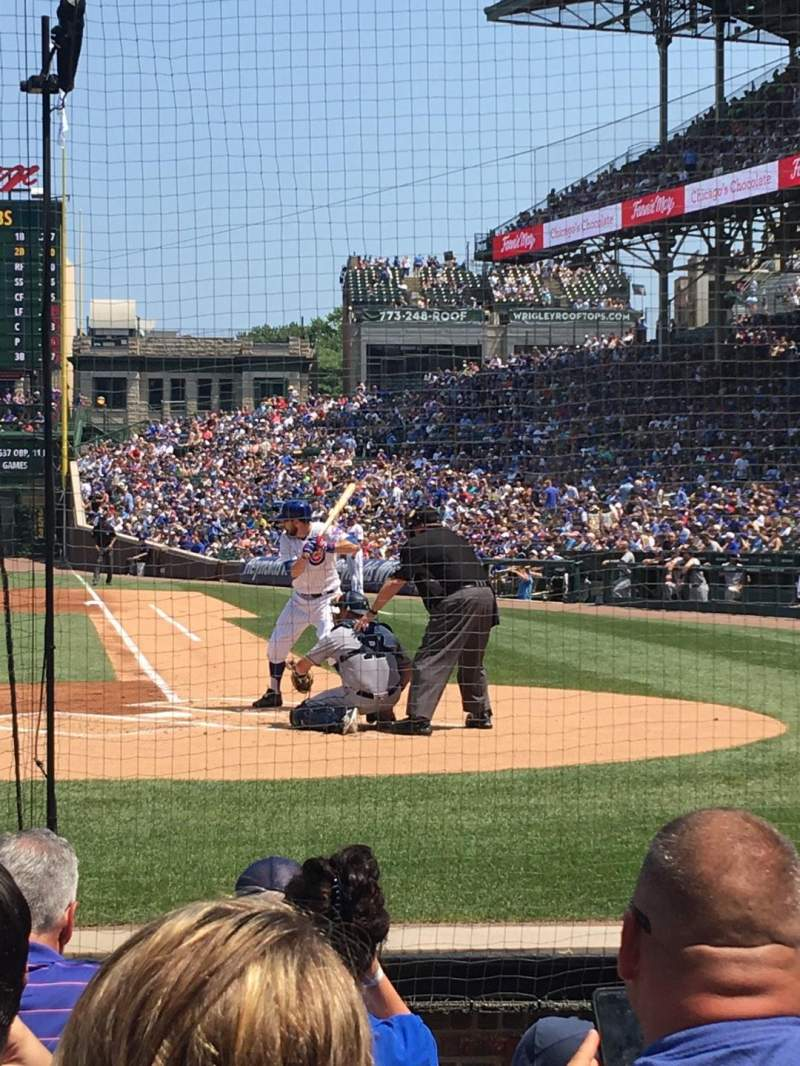 Seating view for Wrigley Field Section AA16 Row G Seat 3