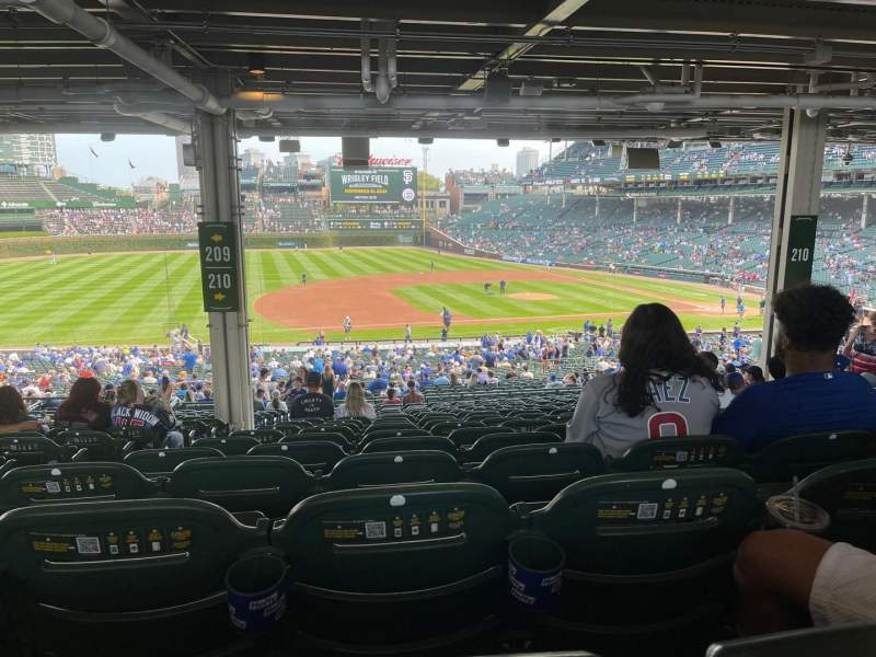 Seating view for Wrigley Field Section 210 Row 19 Seat 3