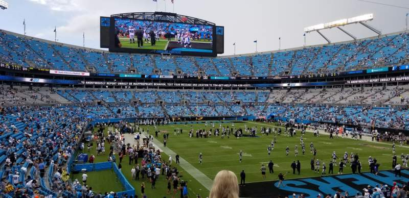 Seating view for Bank of America Stadium Section 233 Row 4 Seat 7