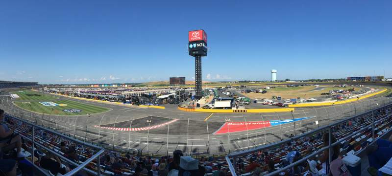 Seating view for Charlotte Motor Speedway Section Ford E Row 11 Seat 11