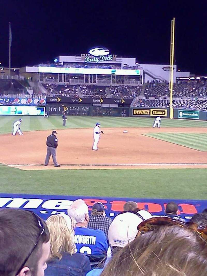 Seating view for Kauffman Stadium Section 118 Row j Seat 3