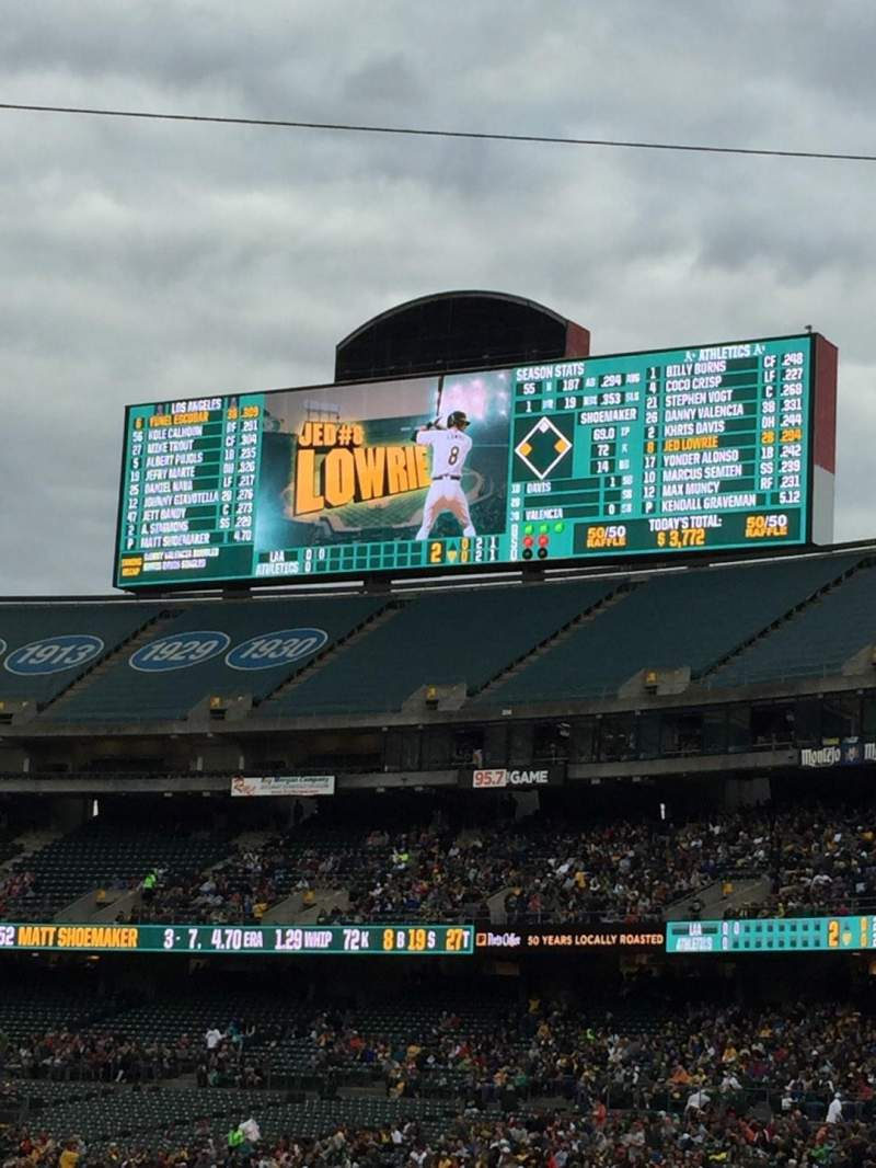 Seating view for Oakland Alameda Coliseum Section 116 Row Row 20 Seat 4