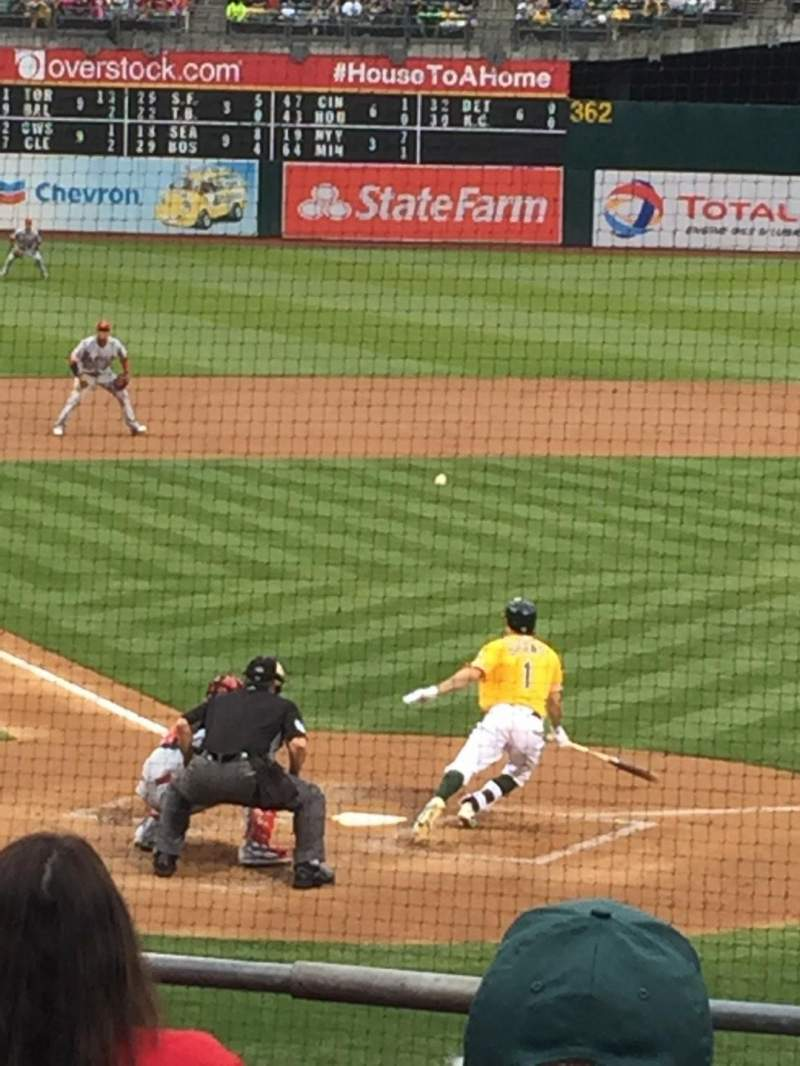 Seating view for Oakland Alameda Coliseum Section 116 Row 20 Seat 3