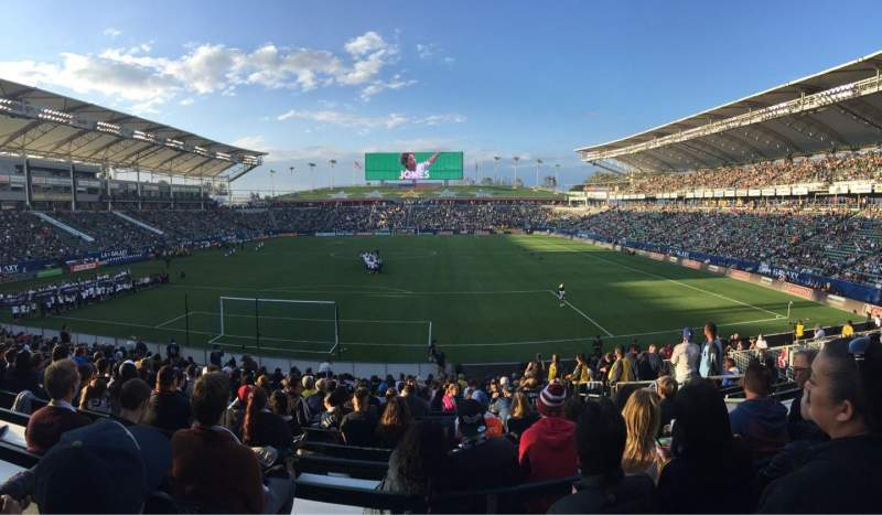 Seating view for StubHub Center Section 142 Row V Seat 6