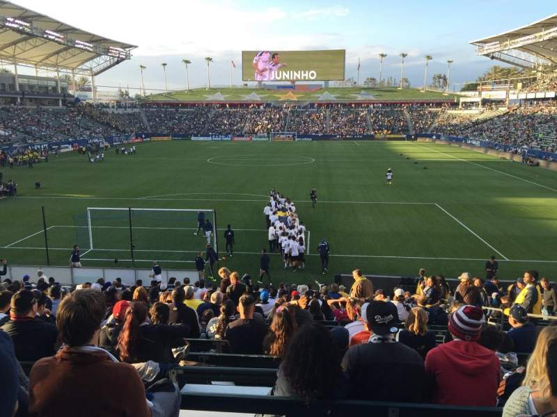 Seating view for StubHub Center Section 144 Row V Seat 6
