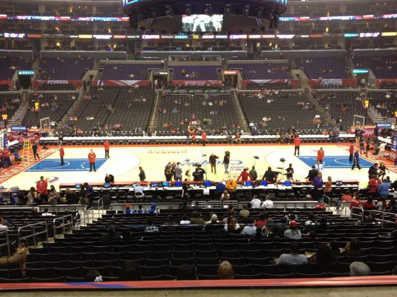Seating view for Staples Center Section PR5 Row 2 Seat 9